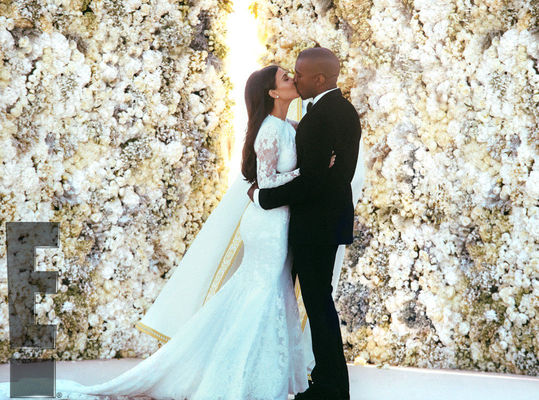 Kanye West si Kim Kardashian - poze nunta