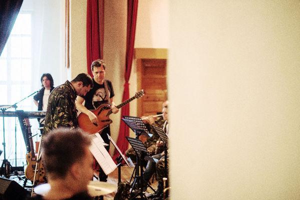 Poze byron - repetitii pentru concertul Electric Marching Band