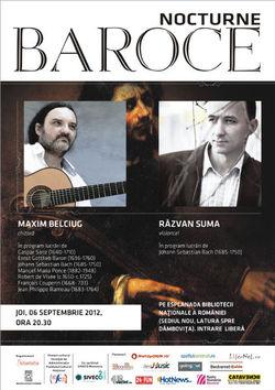 Concert Maxim Belciug si Razvan Suma la Biblioteca Nationala