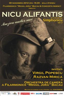 Concert Nicu Alifantis la Filarmonica Mihai Jora din Bacau