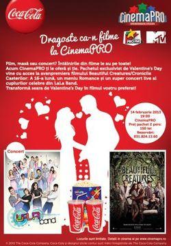 Concert LaLa Band de Ziua Indragostitlor la Cinemapro