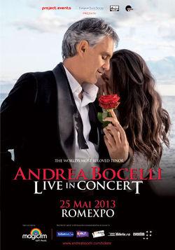 Concert Andrea Bocelli in Bucuresti