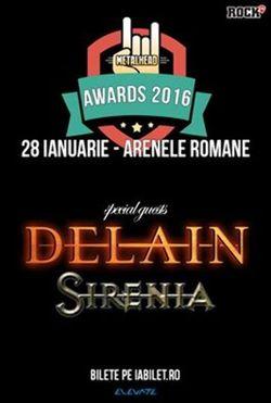 Sirenia canta la Metalhead Awards care se muta la Arenele Romane