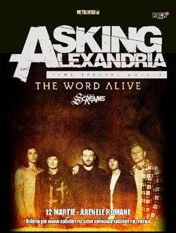 Asking Alexandria concerteaza in premiera in Romania