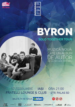 Concert byron 'Solo Together' la Iasi