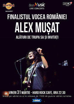 Concert Alex Musat & Band pe 31 martie la Hard Rock Cafe