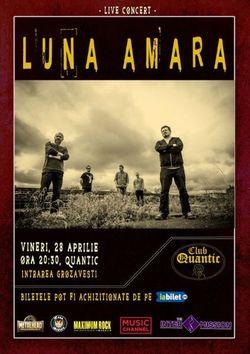 Concert Luna Amara pe 28 aprilie in Quantic