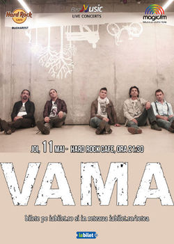 Concert VAMA - electric pe 11 mai la Hard Rock Cafe
