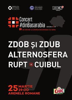 Concert Alternosfera, Zdob si Zdub, Cuibul si Rupt pe 25 martie