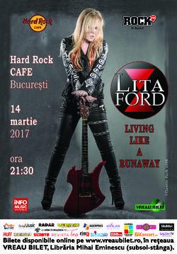 Lita Ford concerteaza pe 14 martie la Hard Rock Cafe