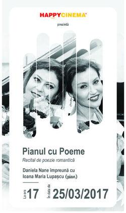 Pianul cu poeme pe 25 martie la Happy Cinema