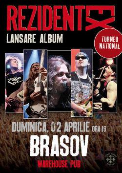 Concert Rezident Ex pe 2 aprilie la Brasov