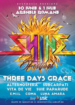 Three Days Grace vor canta la Shine Festival 2017