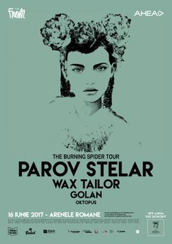 PAROV STELAR, WAX TAILOR, GOLAN si Oktopus pe 16 iunie la Arenele Romane