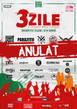 3ZILE. A FRIENDLY MUSIC FESTIVAL - ANULAT