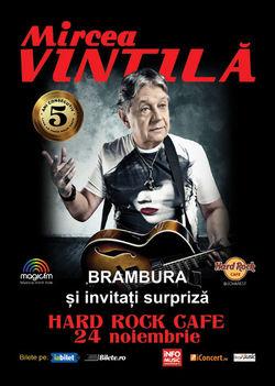 Concert Mircea Vintila pe 24 noiembrie la hard Rock Cafe