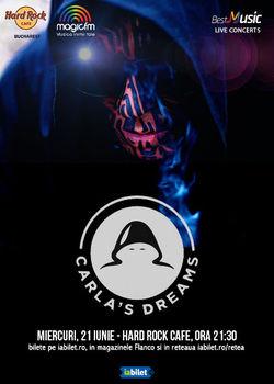 BestMusic cu Carla's Dreams pe 21 iunie la Hard Rock Cafe