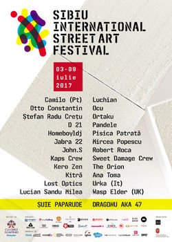 Sibiu International Street ART Festival: Line-up 2017