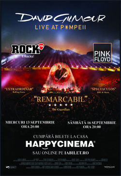 Concert David Gilmour - 'Live At Pompeii' la Happy Cinema
