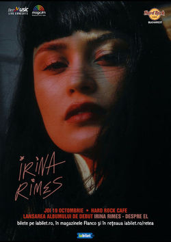 Concert Irina Rimes - lansare de album