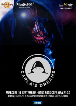 Concert Carla's Dreams pe 19 septembrie