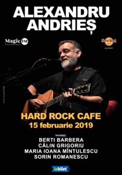 Alexandru Andries - in premiera la Hard Rock Cafe