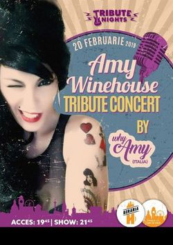Amy Winehouse Tribute Show by why Amy [Italy]