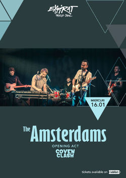 The Amsterdams / Coven Clash / Expirat / 16.01