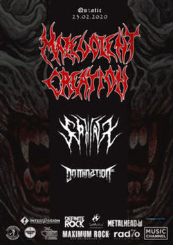 Malevolent Creation [USA] / Domination Inc. [GR] / Sphinx [UK] in concert la Bucuresti