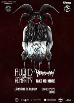 Fabrica: Lansare Album + Clip Avoid Humanity w/ Ropeburn & Take No More pe 6 martie