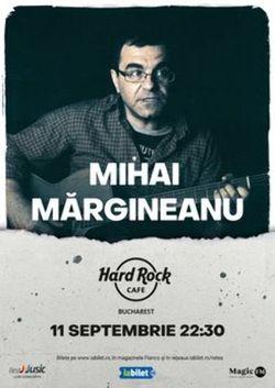 Concert Mihai Margineanu pe 11 septembrie