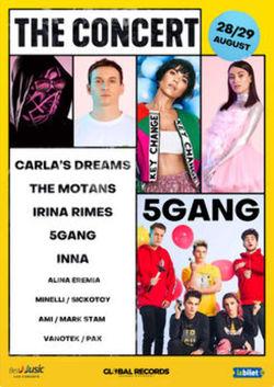 Abonamente: Carla's Dreams, The Motans, 5Gang, Irina Rimes - The Concert