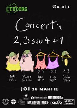 Concert in 2, 3 sau 4 + 1