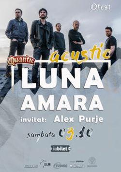 Luna Amara acustic pe 3 octombrie