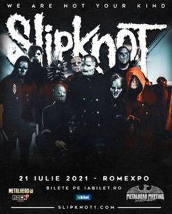 Slipknot la Bucuresti pe 21 Iulie 2021
