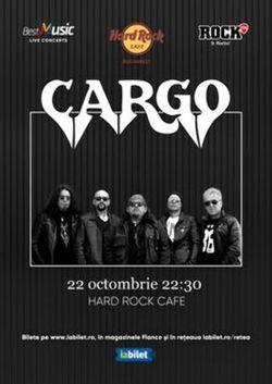 Concert Cargo pe 22 octombrie la Hard Rock Cafe