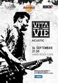 Concert Vita de Vie Acustic pe 16 septembrie