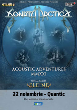 Concert Sonata Arctica pe 22 noiembrie la Quantic