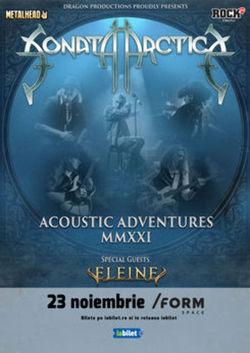Concert Sonata Arctica pe 23 noiembrie la /FORM Space