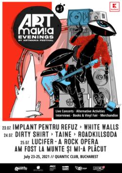 ARTmania Evenings 2021 are loc in perioada 23-25 iulie