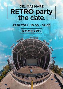 The Date Retro Party la Romexpo