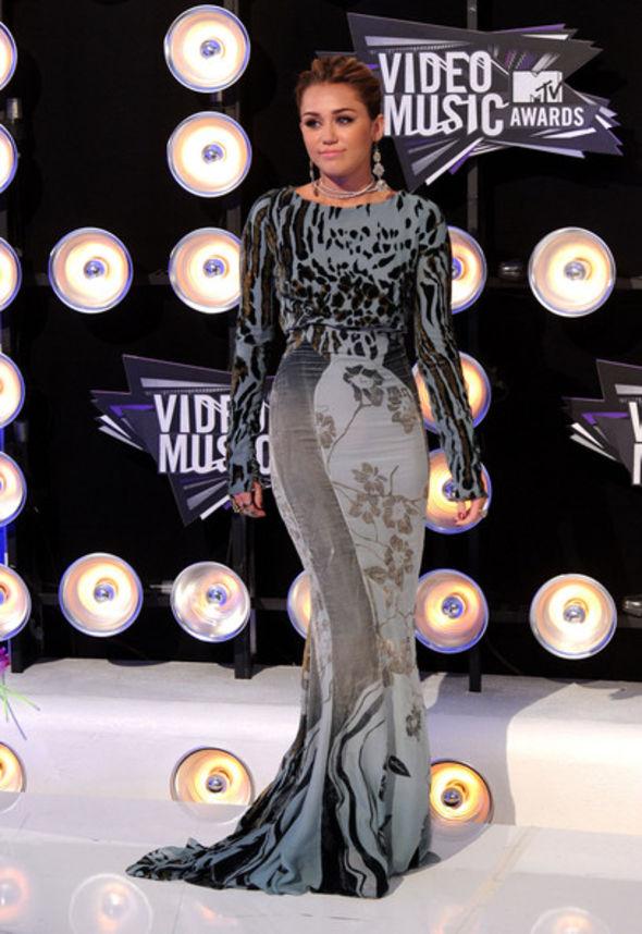 Miley Cyrus Evening Dress