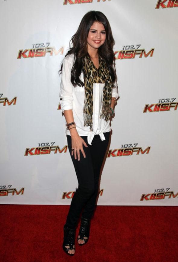 Selena Gomez Patterned Scarf