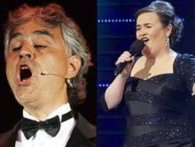 Susan Boyle va canta cu celebrul tenor Andrea Bocelli