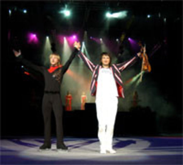 Plushenko, Lambiel, Edvin Marton - Kings On Ice la Bucuresti