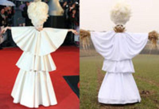 Lady Gaga are succes si ca... sperietoare de ciori! (poze)