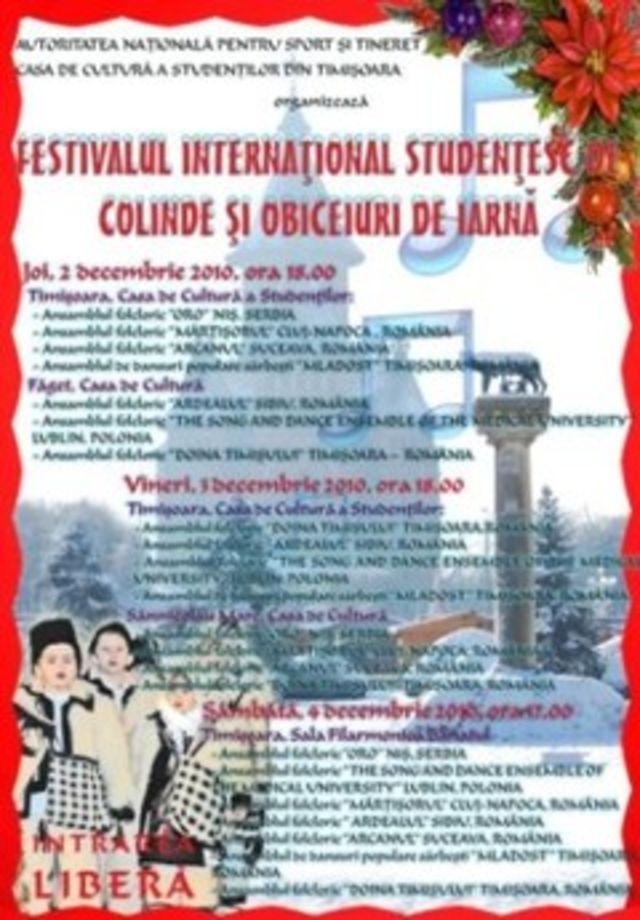 Festivalul International Studentesc de colinde si obiceiuri de iarna