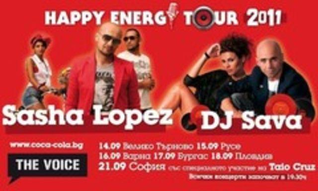 DJ Sava si Sasha Lopez, pe scena cu Taio Cruz