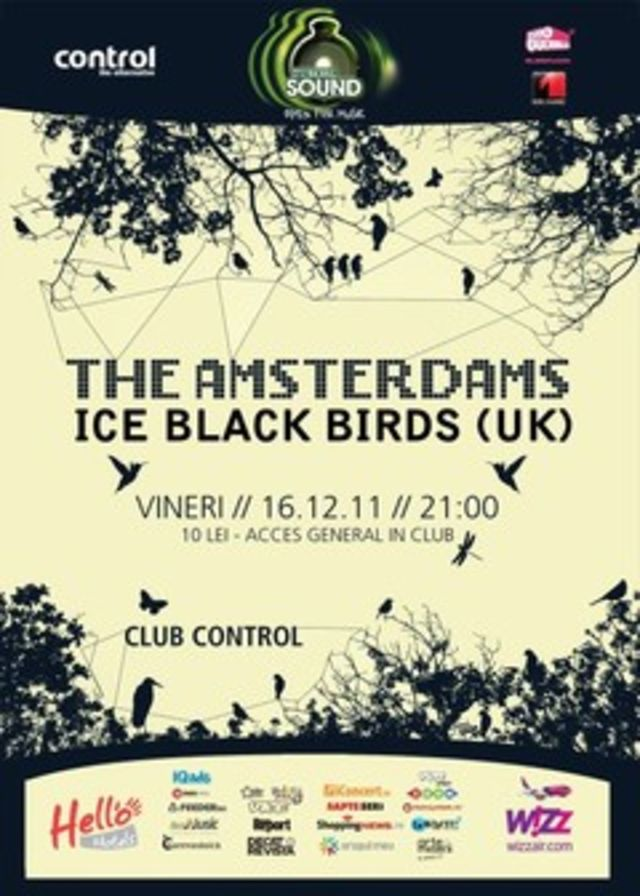 Concert Ice Black Birds (UK) si The Amsterdams in Control