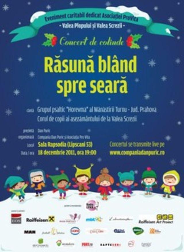"""Concert caritabil de colinde """"Rasuna bland spre seara"""""""